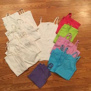 Girls Cami undershirts (Set of 16)